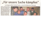 Für unsere Sache kämpfen -Landtagswahl in NRW-Delegiertenwahl im Berliner Platz mit Gordan Dudas