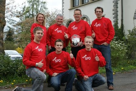"""SPD Kart-Team 2011 - 2012 Kinderbetreuung bei diesem Event - Motto """"Wir sind dabei!"""""""