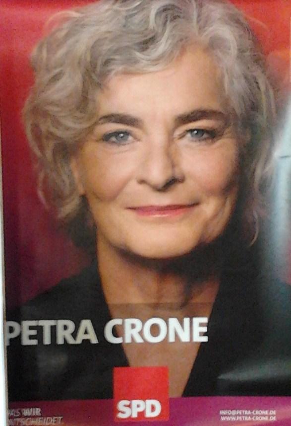 Am 30.08. können Bürger auf dem Markt mit Petra Crone diskutieren