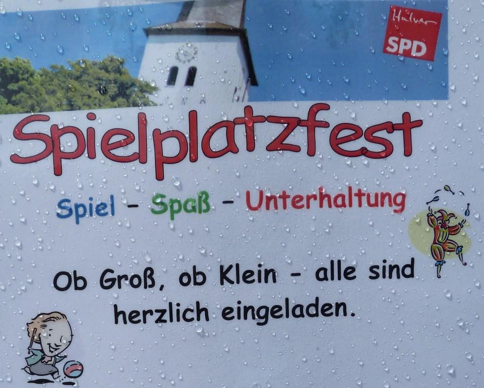 SPD Spielplatzfest mit Überraschungen für Klein und Groß