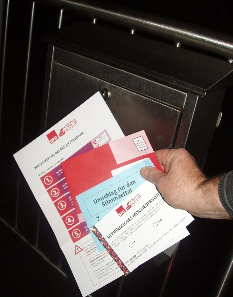 Die Wahlunterlagen sind da – Veranstaltungen zum Mitgliedervotum in Lüdenscheid,Olpe und Halver