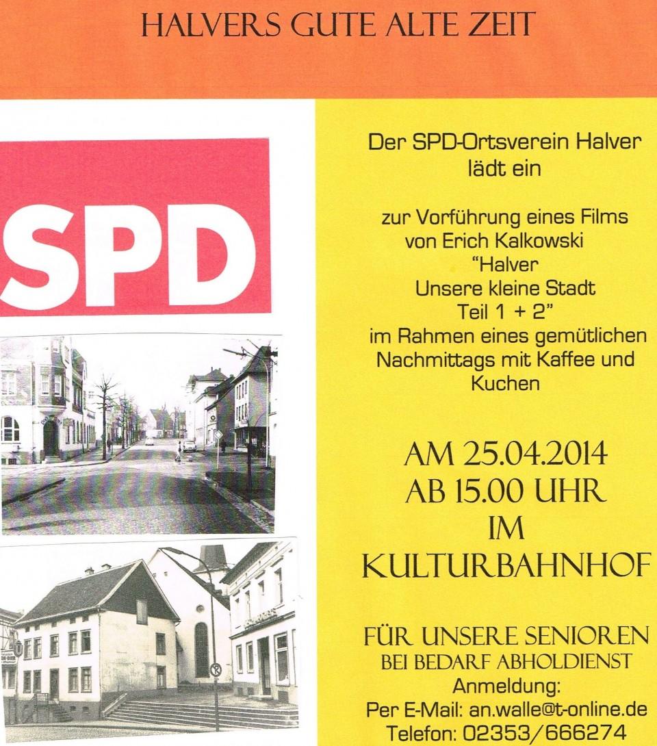 """Filmvorführung """"Halvers gute alte Zeit"""" Wahlkampfauftakt am 25.April"""