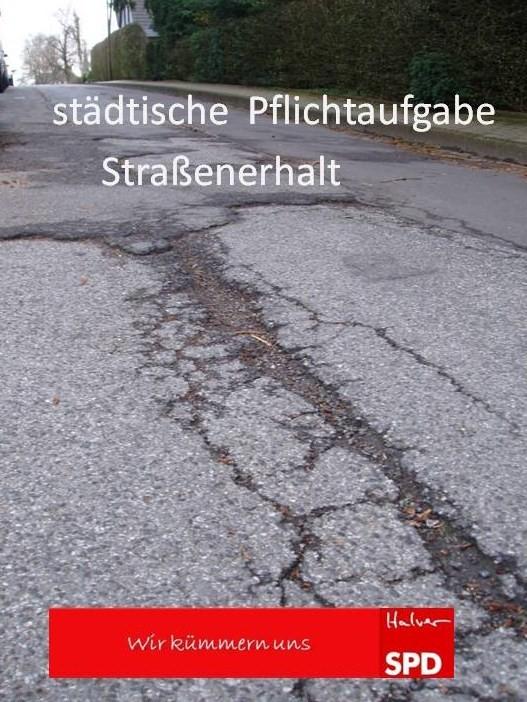"""""""Straßenerhalt in Halver"""" – Wir zur Kommunalwahl am 25.Mai"""