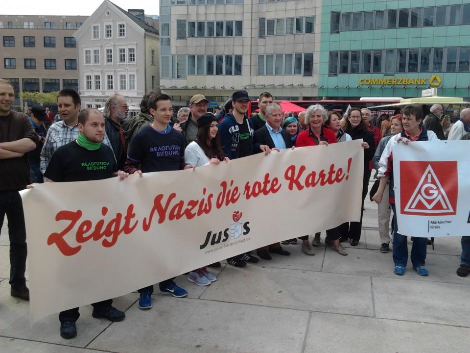 """""""Gemeinsam gegen Rechts"""" – Kundgebung zum 1.Mai in Lüdenscheid"""