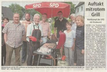 """Bericht des AA vom 11.August zum ersten """"Roten Grill"""" im Winkel"""