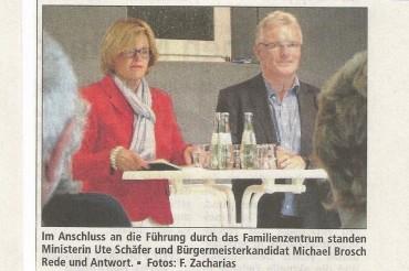 Bericht des AA vom 29.August zum Besuch der Ministerin Ute Schäfer