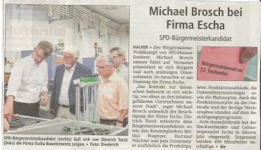 Bericht des AA vom 13.August zum Escha – Besuch von Michael Brosch