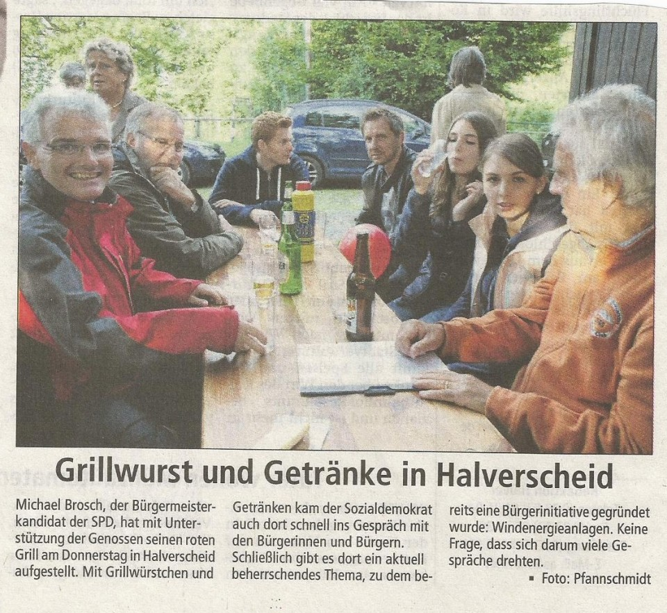 Roter Grill in Halverscheid – Bericht des AA vom 5.September