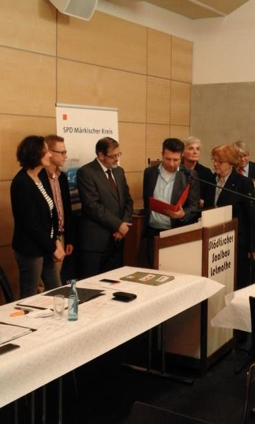 SPD Delegierte besuchen den UB-Parteitag in Iserlohn – Michael Scheffler wird geehrt