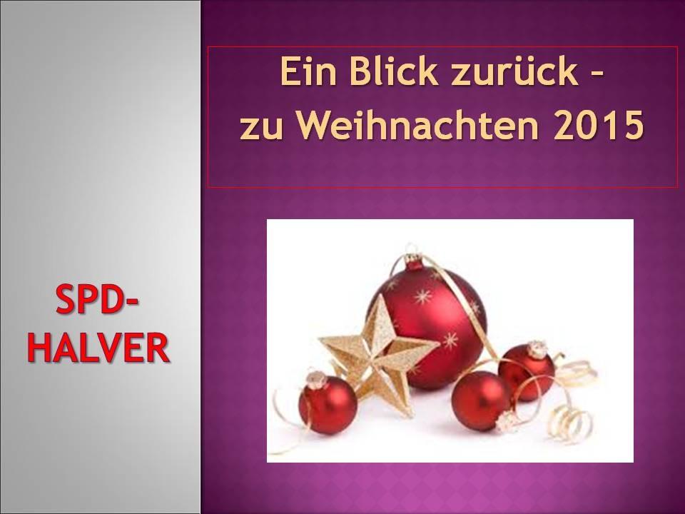 Jahresrückblick 2015 als Präsentation auf dem SPD-Adventskaffee