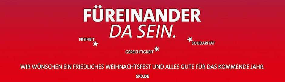 """""""Für einander da sein"""" – Mit diesem stets aktuellem Motto wünscht die SPD in Halver allen ein frohes Fest und einen guten Übergang ins Jahr 2016"""