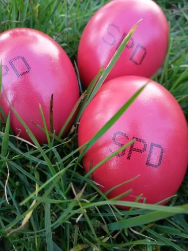 1000 rote Ostereier – jedes Jahr eine gelungene Aktion mit vielen Gesprächen
