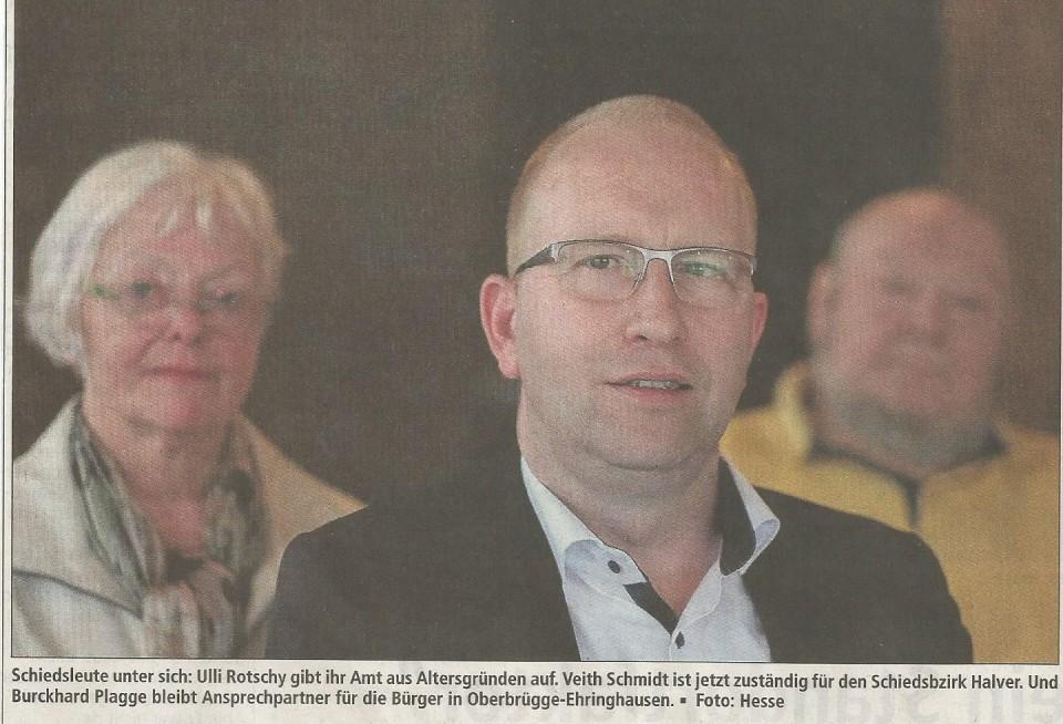 Genosse Veith Schmidt übernimmt ehrenamtliche Aufgabe als Schiedsmann von Ulli Rottschy