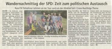 Pressebericht zum SPD Familienwandertag