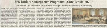 """Pressebericht zum SPD-Antrag """"Gute Schule 2020″ und Klausurtagung"""
