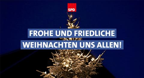 Zum Weihnachtsfest wünscht die SPD in Halver euch allen Freude und Gesundheit