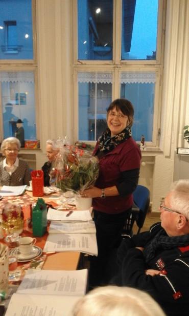 AWO-Weihnachtsfeier – Regina Reininghaus lebt ihr Ehrenamt