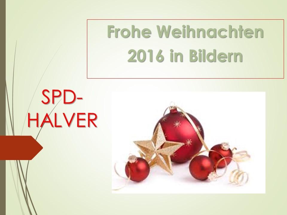 Jahresrückblick 2016 SPD-Halver als Präsentation