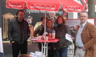 Erster Infostand der SPD Halver zum Landeswahlprogramm – Kita-Veranstaltung am 12.4 in Halver