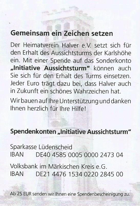 turm-Spendenkonto