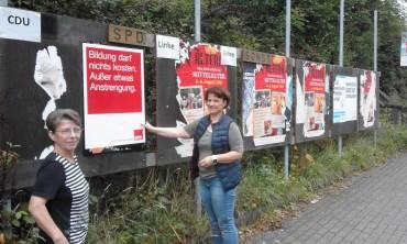 Unsere Plakate hängen – aber es ist kein wirklich schöner Anblick