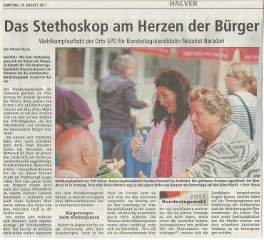"""Gesprächszeit am """"roten Grill"""" der SPD-Halver"""