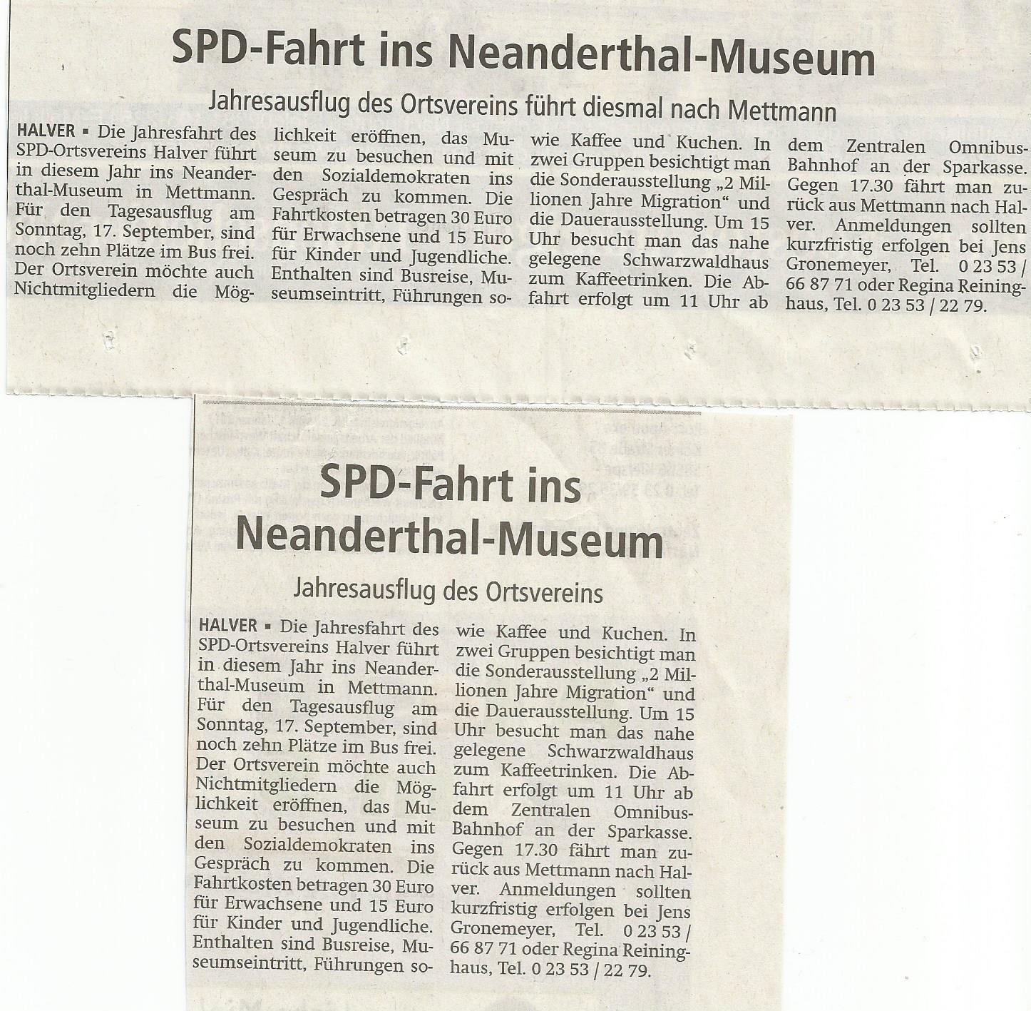 presseankündigung Neanderthal
