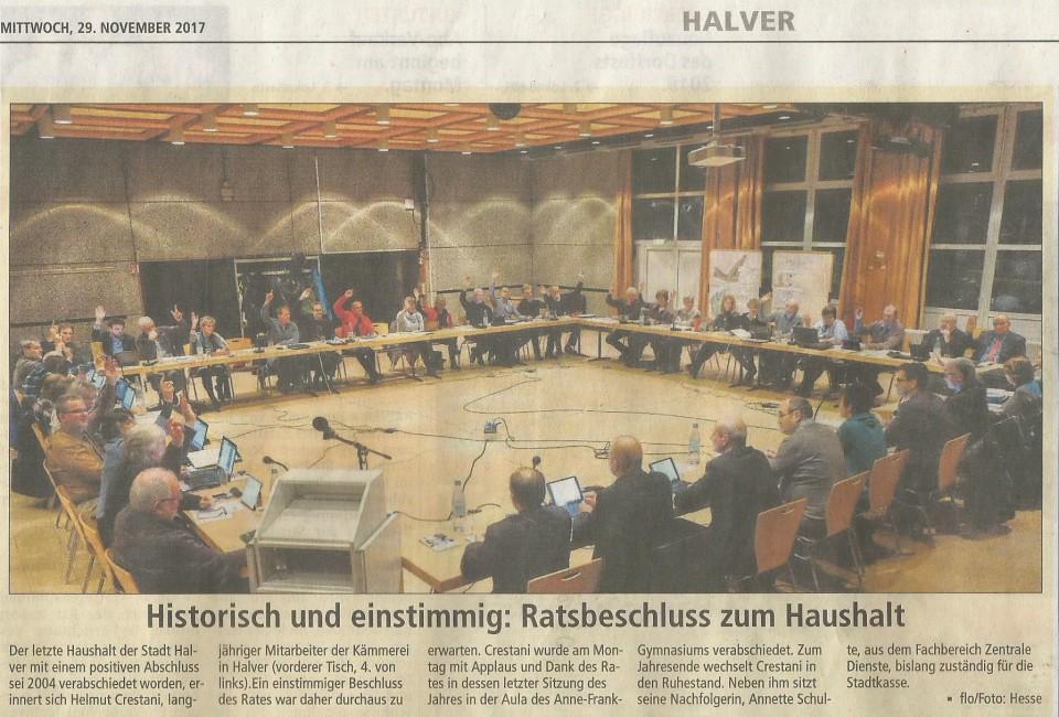 """Bürgermeister Michael Brosch kann sich zurecht über eine """"Null"""" freuen – Eine """"Schwarze Null"""""""