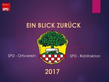 Jahresrückblick 2017 SPD-Halver als Präsentation