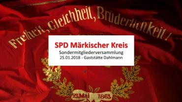 """""""Lebhafter, aber respektvoller Austausch"""" auf der Sondermitgliederversammlung SPD MK in Lüdenscheid"""