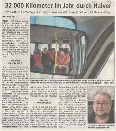 "Vorbericht des AA zum Vortragsabend ""Bürgerbusverein e.V"" mit Klaus-Peter Viebahn"